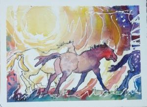 Sun Ponies Running