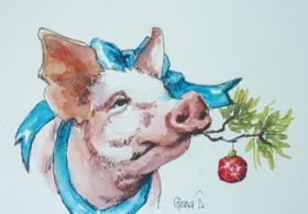 Pigs Love Christmas Too!