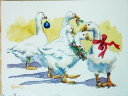 Gaggle of Christmas Geese