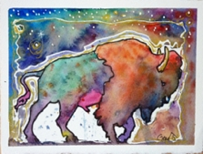 Starry Night Bison